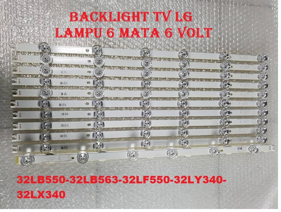 BACKLIGHT TV LG 32LF550 ORIGINAL - BEST SELLER LAMPU LED 6 KANCING 6 VOLT UNTUK TV LG 32LF550