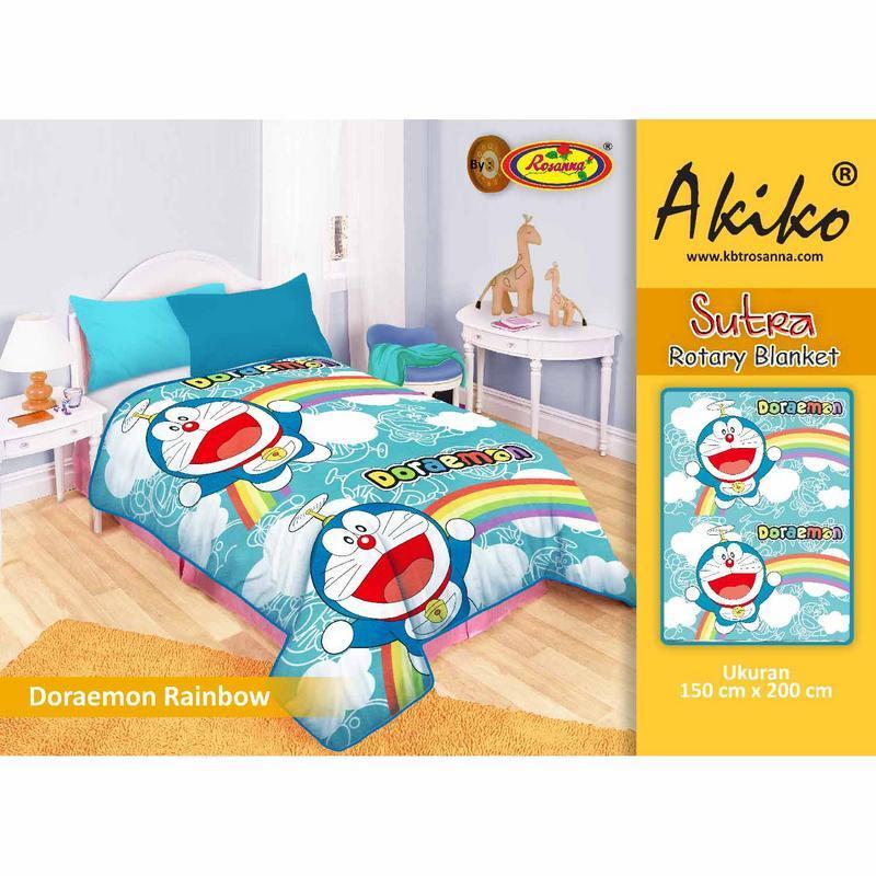 Selimut Akiko Sutra Rotary 150x200 Doraemon 2