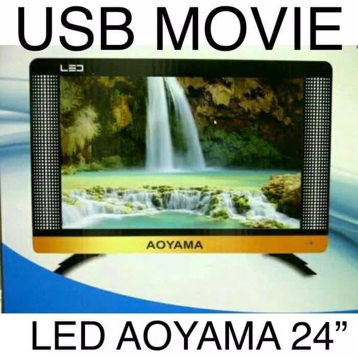 TV LED aoyama 24 inch ( usb movies, vga , hdmi )