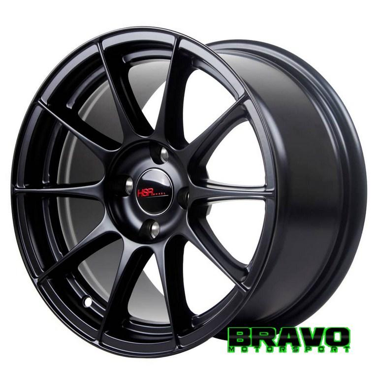 Velg Mobil Ring 15 HSRPOOL BLACK Racing Yaris TRD Brio Satya Vios Etios Valco