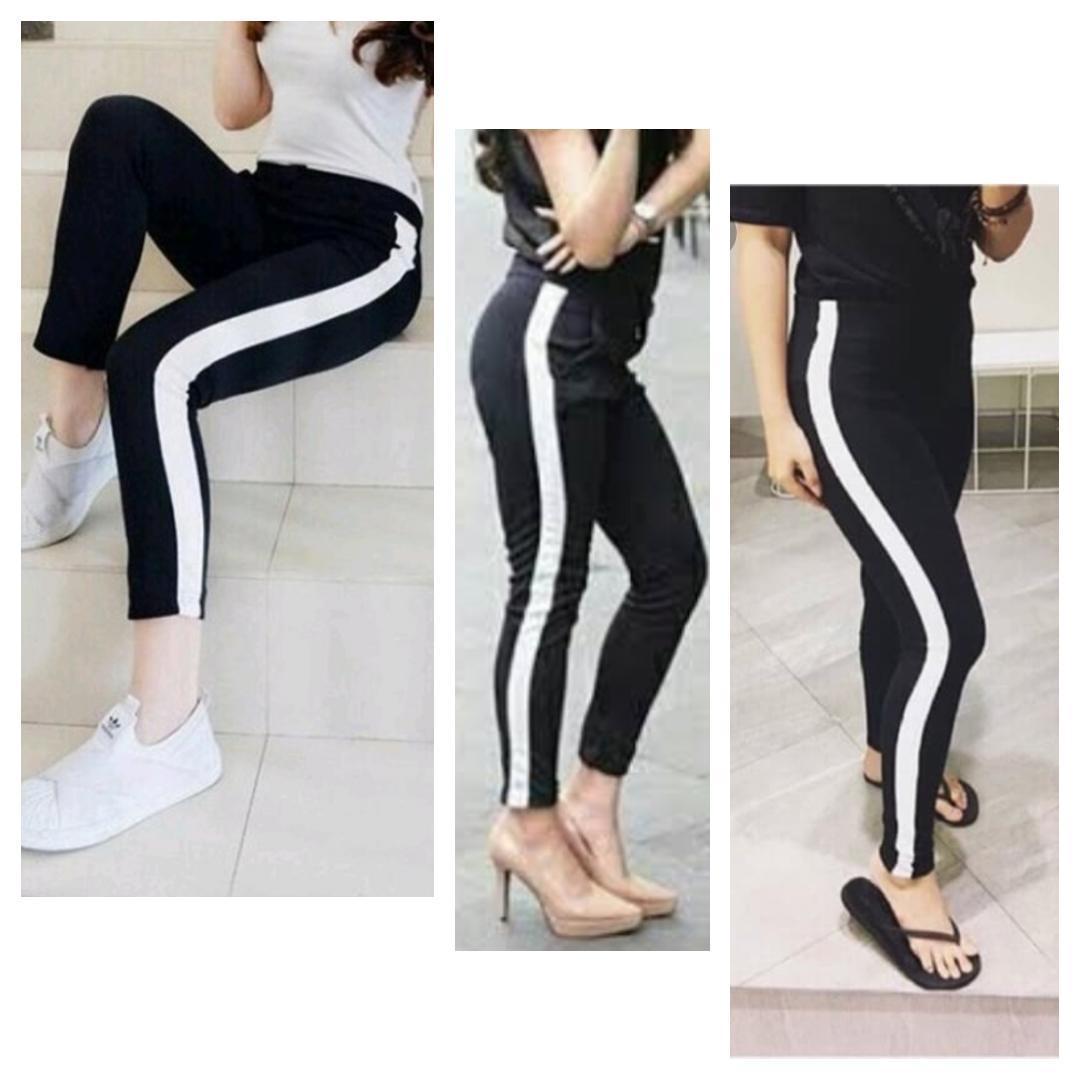 Celana Legging Luna Hitam Lis Samping Putih Multi Warna Tania Shop Ukuran M L Xl Muat Cod Tania Shop Lazada Indonesia