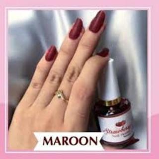 COD Strawberry Nail Henna Kutek Kuku Halal BPOM 15 ml Maroon thumbnail