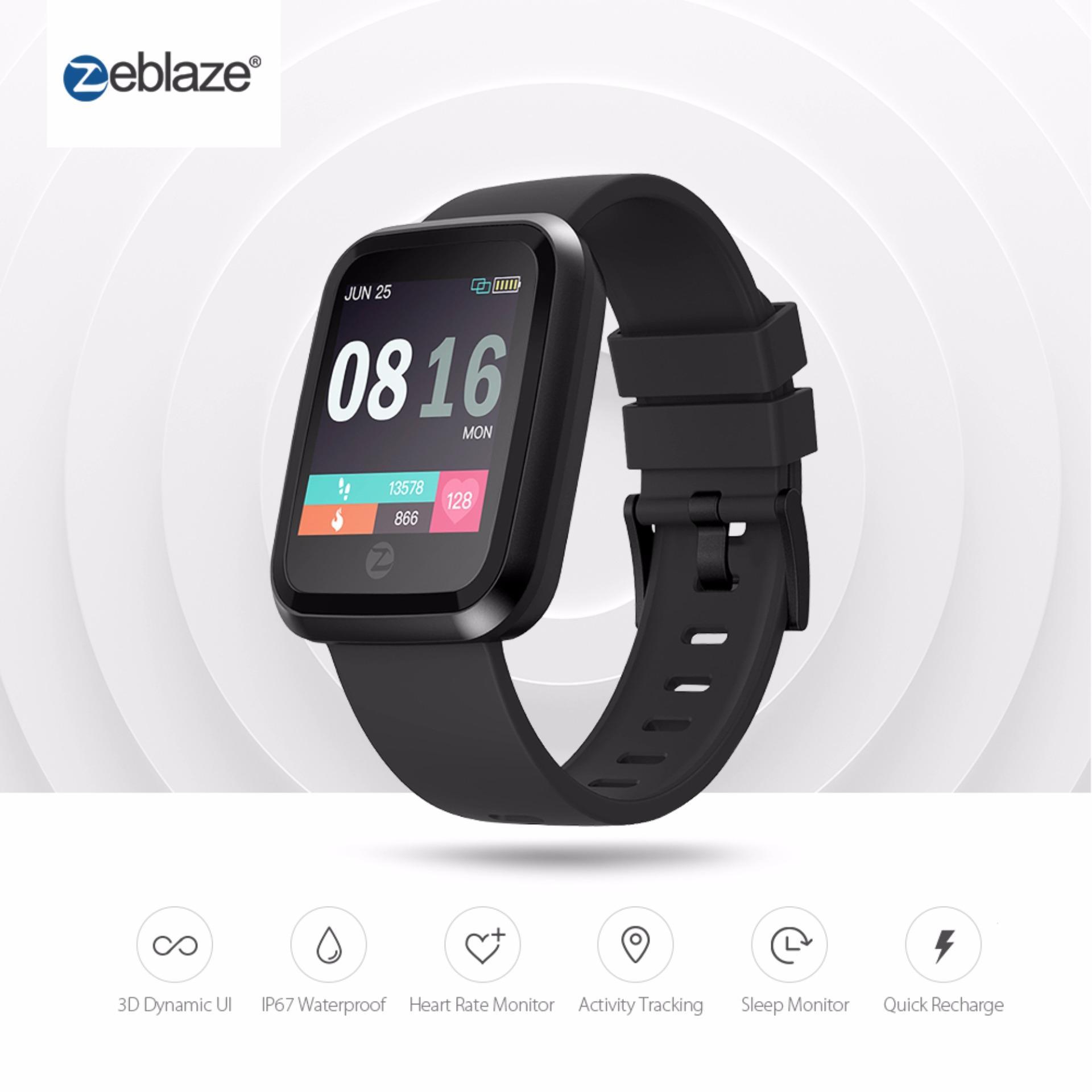 Zeblaze Crystal 2 Smart Gelang IP67 Tahan Air Wearable Perangkat Rate Monitor Warna Layar Smartwatch untuk