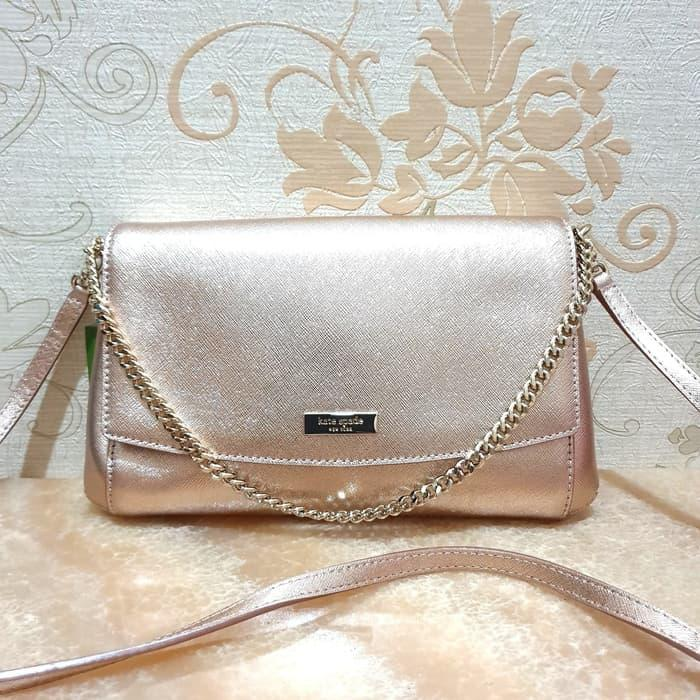 Tas Kate Spade Greer Rosegold Shoulder Bag Crossbody Leather Original c9b559f947