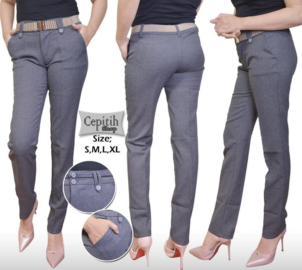 cipitih shop - Celana Bahan Kerja Wanita / Celana Kantor Slim fit Wanita / Celana Kerja