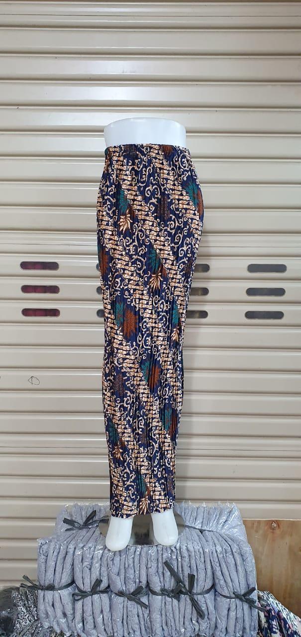 Glow Collection Lesia  Rok span plisket panjang batik wanita jumbo long skirt Fit to XXL