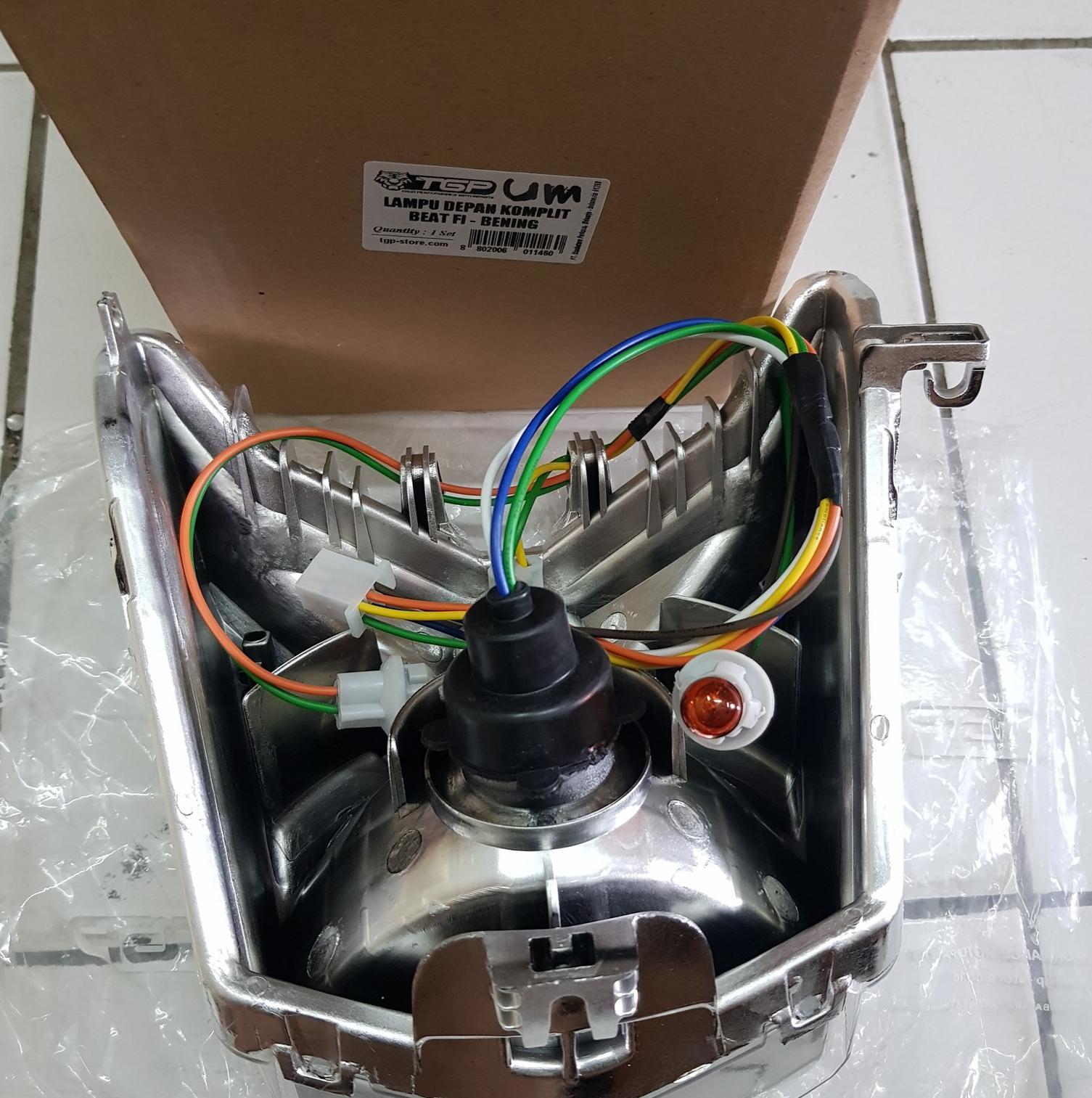 Reflektor Lampu Depan Beat Fi 2013 - 2015 Komplit Assy TGP High Qual