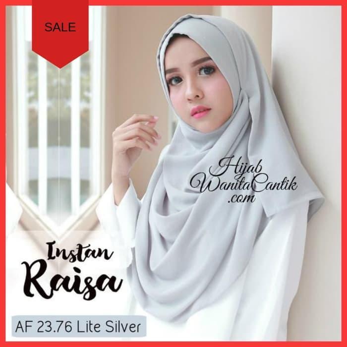 Pashmina Instan Hijab JIlbab Kerudung Instan Raisa Polos Maroon / DZA Laris Fashion