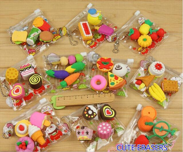 1 ( SATU ) PACK Penghapus Fancy / Penghapus Pencil Lucu cute erasers (FOOD ERASERS)