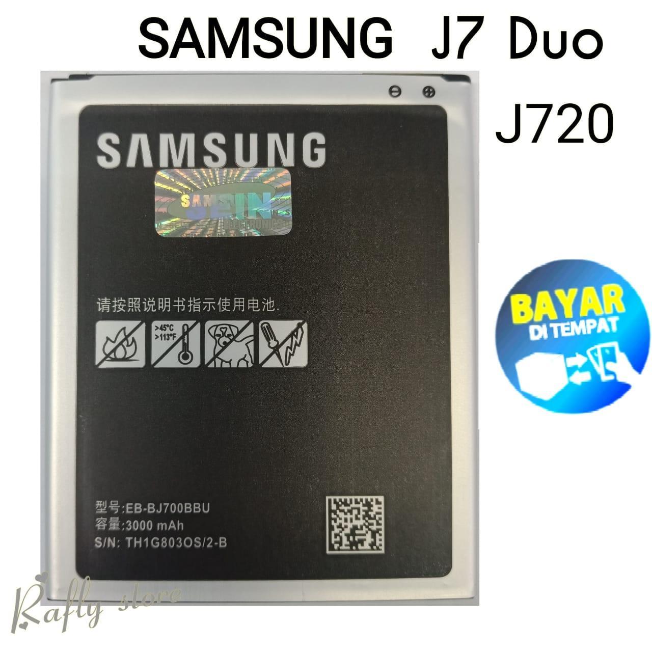 Rafly; Batrai Samsung J7 Duo (J720) Baterai Handphone Batre Android Battery Batere Samsung Galaxy J7 Duo (J720) EB-BJ700BBC 3000mAh / Rafly store