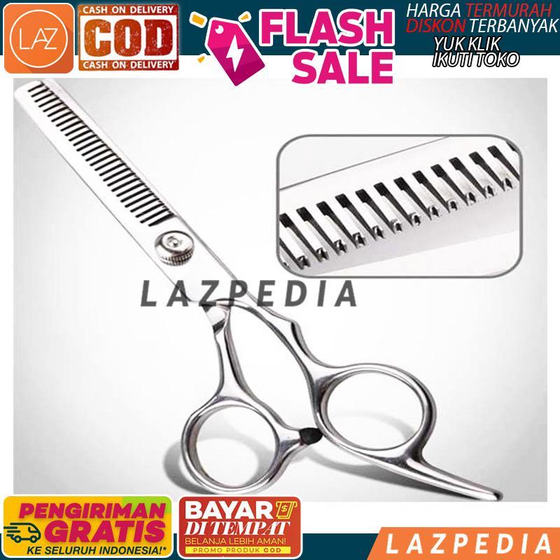 Bayar Ditempat - [silver] Gunting Rambut Sasak Full Stainless / Gunting Potong Rambut Sasak Stainless Steel / Alat Potong Rambut - Lazpedia By Lazpedia.