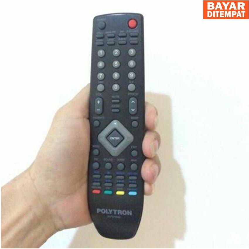 Polytron Remot LCD LED TV - Hitam Remote TV Polytron Di JAMIN BISA KONEK