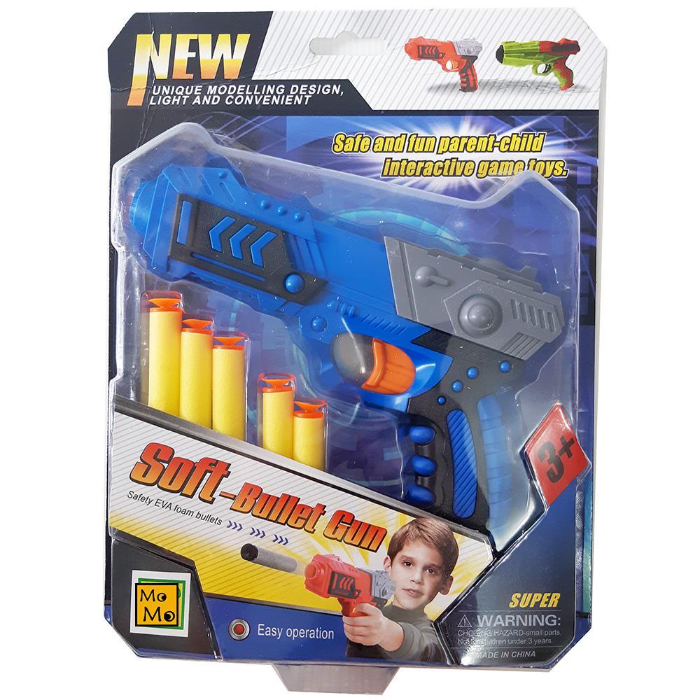 MOMO TOYS TERBARU Mainan Anak Laki Laki Senapan Busa Soft Bullet Gun Mika  1951 Warna Acak - Mainan Anak / Tembakan Busa / Senapan Busa