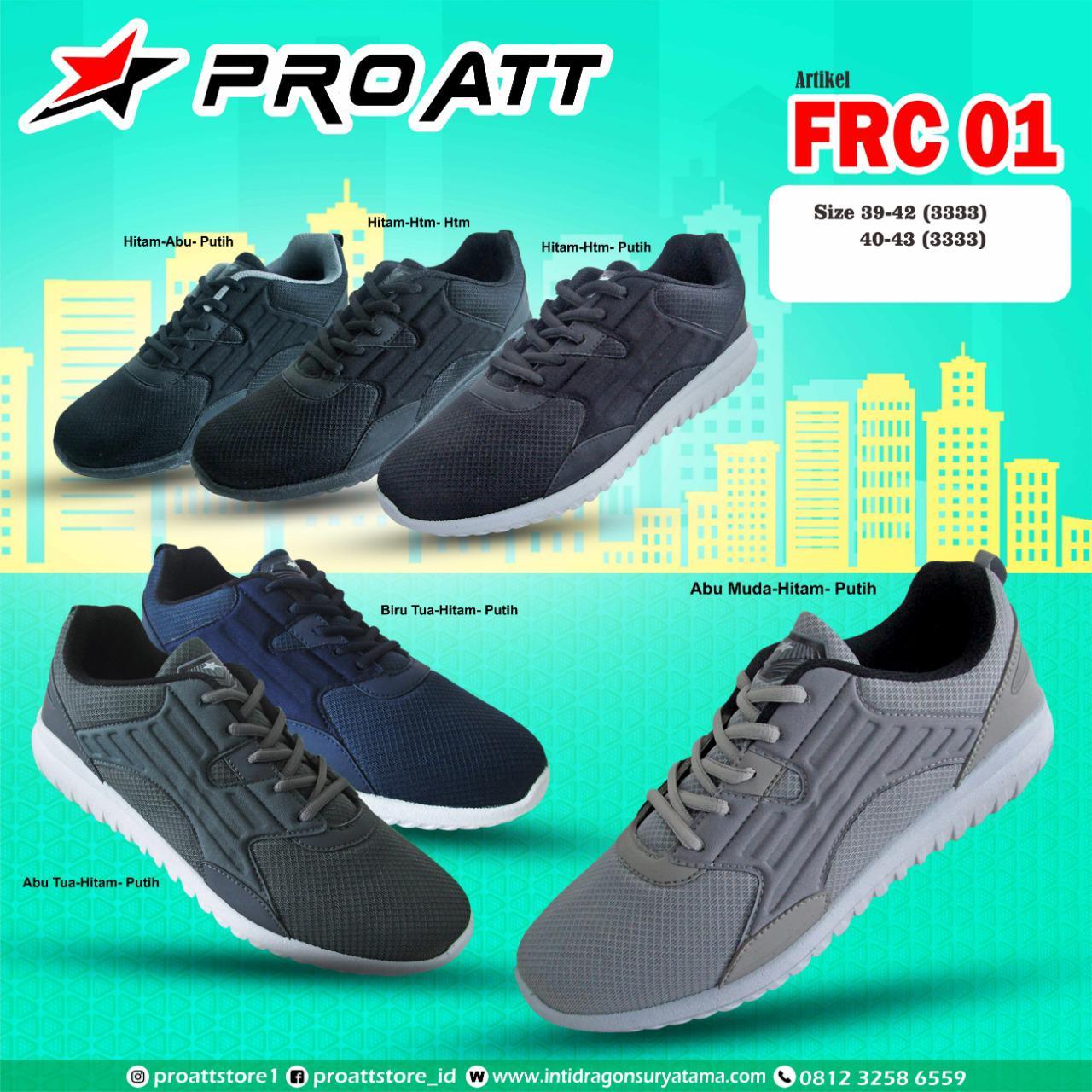 Amelia Olshop - Sepatu PRO ATT FRC 01 39-43 / Sepatu Olahraga Pria / Sepatu Pria / Sepatu Sport Pria / Sepatu Sneakers Pria / Sepatu Jogging Pria