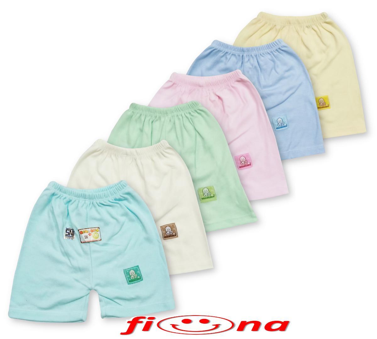 Fiona 6 Pcs Celana Pendek Anak Bayi Warna Polos Model Kotak Hello Baby Laki Laki Dan Perempuan By Fiona Baby Shop.