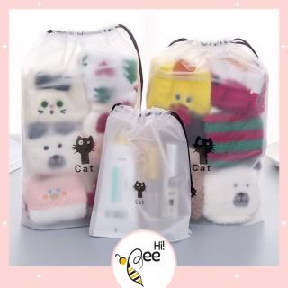 HIBEE Pouch HP Brown Dan Cat Tas Travel Organizer Bag Kosmetik Makeup Make up Anti Air Wanita Import Batam thumbnail