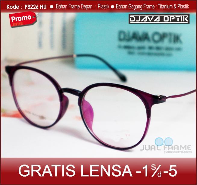 Frame Kacamata Bulat Korea 8226 + Free Lensa minus plus silinder Kacamata  Gaya Baca 187e4db158
