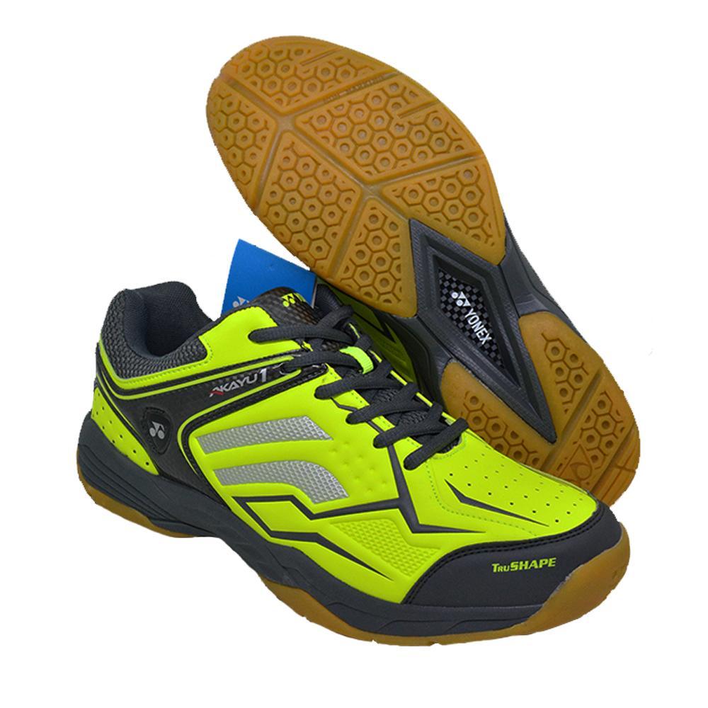 Sepatu Badminton Yonex Series Akayu1  Warna Neon Lime, Sepatu Bulu Tangkis Pria