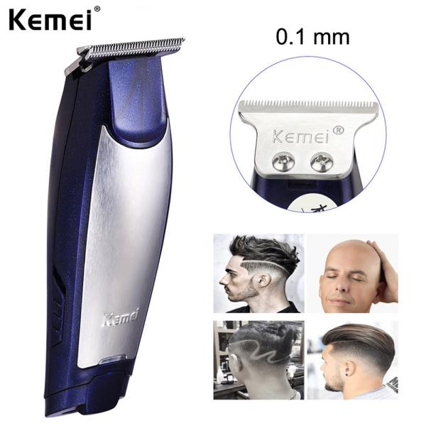 Jiuch Kemei KM-5021 Rechargeable Eletric Silent Hair Trimmers Clipper Machine Hair Trimmer Cutting Machine Beard Barber Razors DIY Lettering Hair Salon Push White For Men