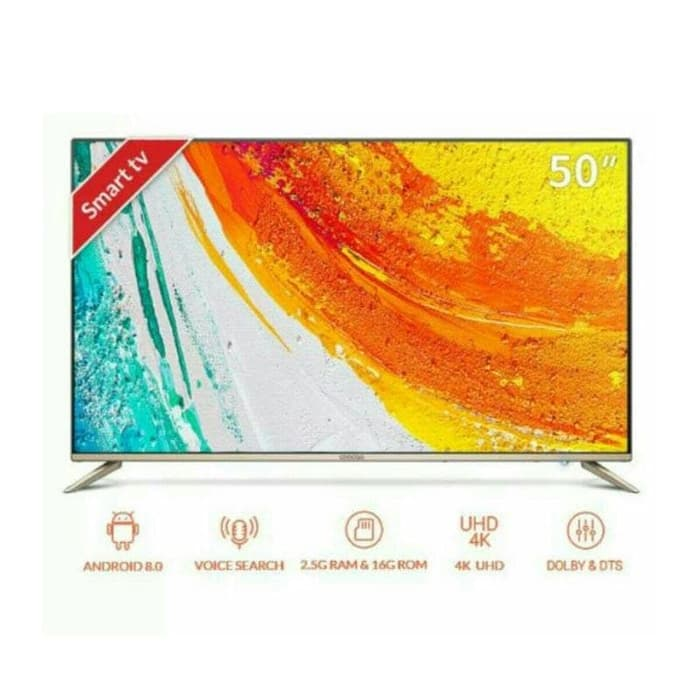 Promo Terakhir - Coocaa 50S5G Android Smart TV [50 Inch/ 4K UHD]