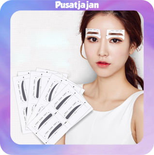 Pusatjajan 344 Cetakan Alis Eye Brow Template Sticker Murah Produk Import thumbnail