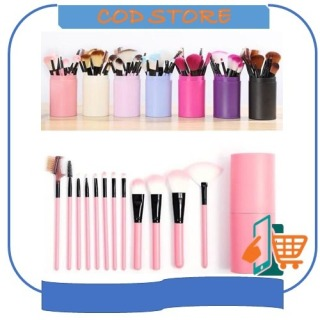 [IMPOR] COD - D8001 Alat Make Up 12 Kuas Make Up Tools Brush Kosmetik Make up Set thumbnail