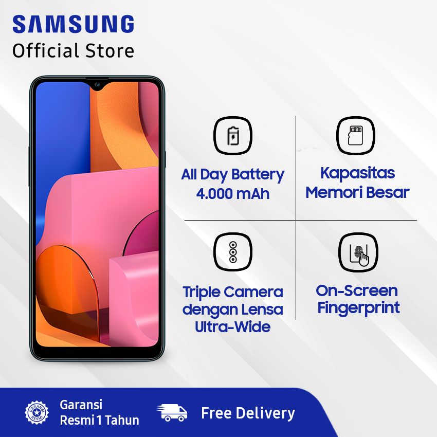 Samsung Galaxy A20s 3/32 GB - HP Murah!