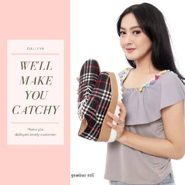 SELENA - Dalleya sepatu wedges wanita realpict platform trendy cantik murah