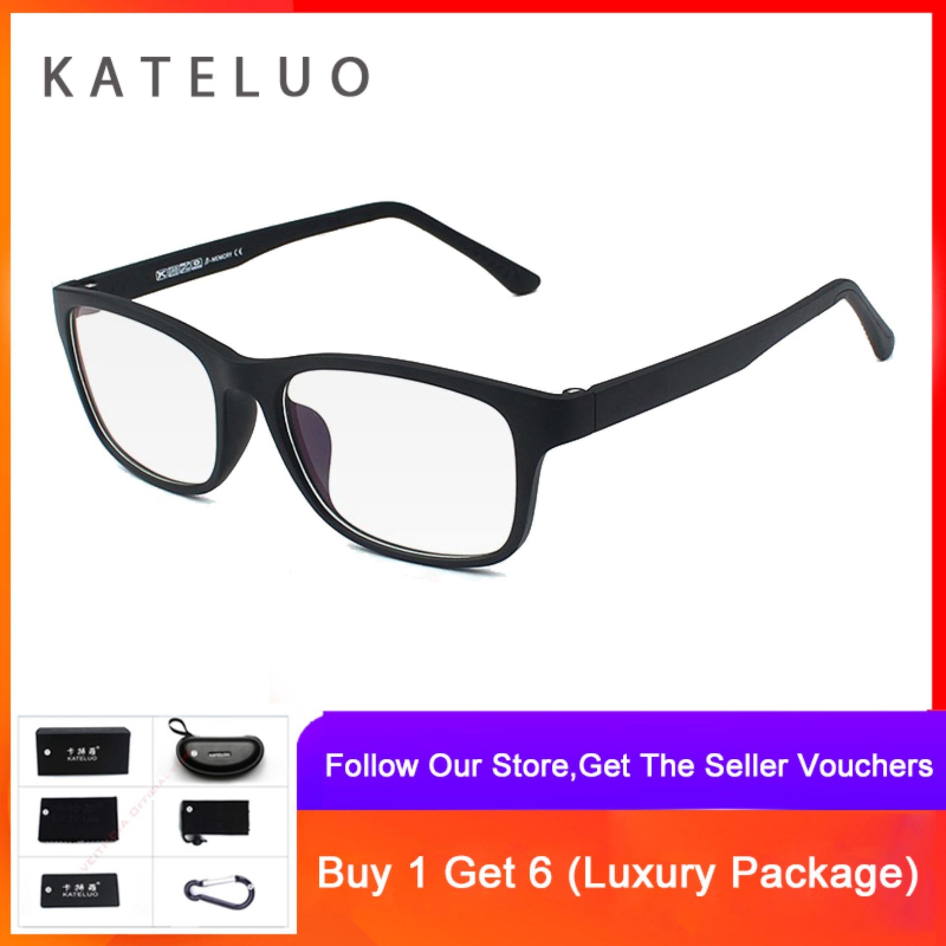 Cod+pengiriman Gratis Kateluo Kacamata Anti Radiasi Warna Biru Untuk Pria / Wanita 9219 By Veithdia Official Store