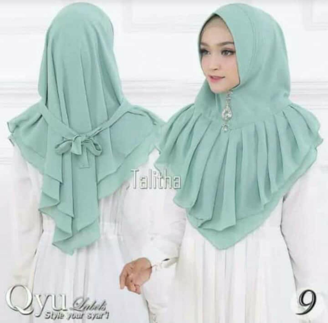 Hijab/Jilbab Instan Model Bergo terbaru termurah dan Terlaris / Kerudung Wanita cerutty rempel talitha