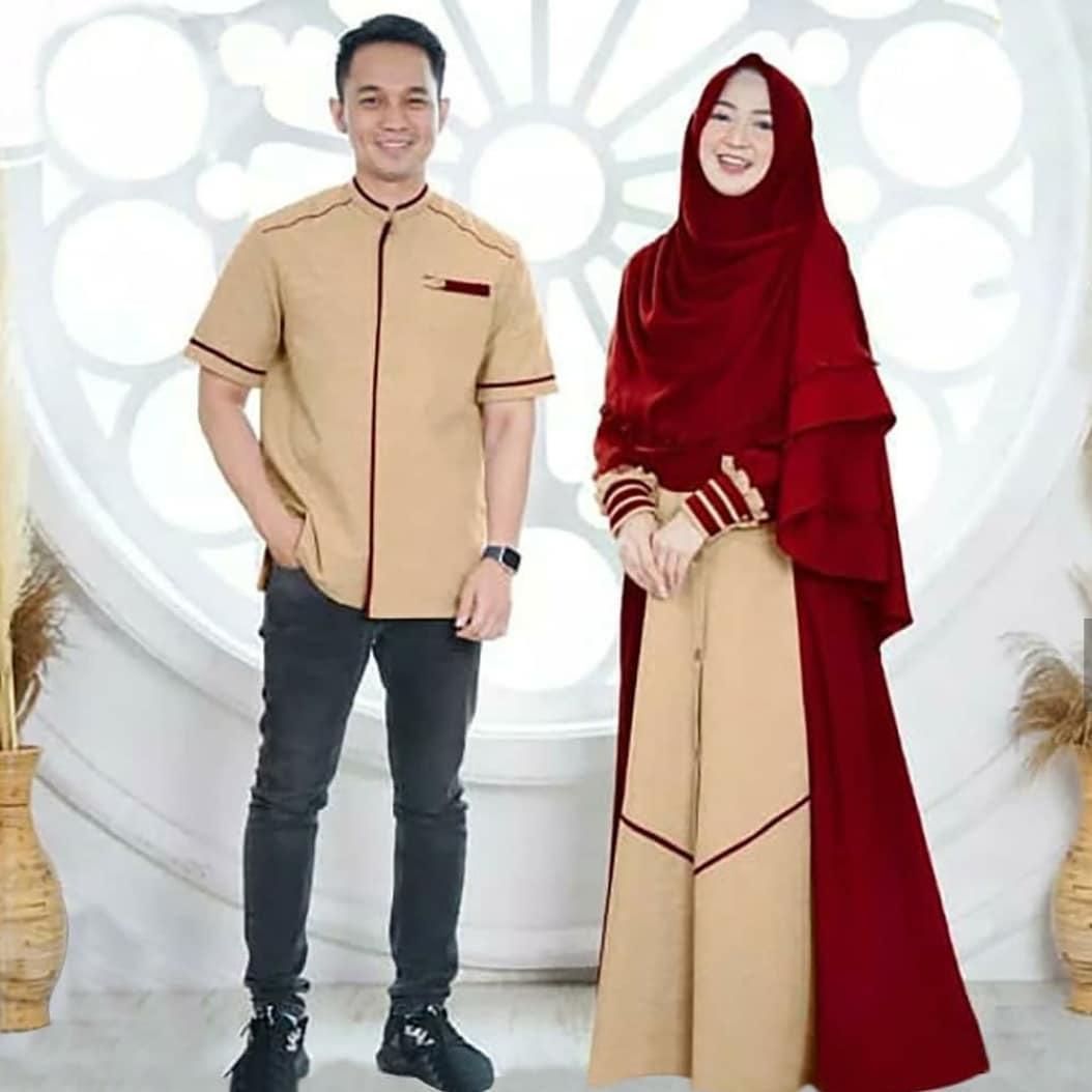 Baju Original NIZAR COUPLE MC Bahan Mosscrepe ( Dapat Kemeja Pria + Gamis Wanita + Khimar / Hijab ) COUPLE KELUARGA MUSLIM Couple Pasangan Terbaru 2020 Baju Atasan Pria Casual Terbaru Gamis Wanita Modern Muslim Couple Termurah Simple Modis Kekinian 2020