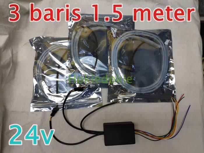 BISA COD Led RGB 1.5 meter Multi Mode Tail Lamp 3 Baris 12v 24v extra panjang - 12v 150cm LAINNYA Lampu led kamar tidur/Lampu led motor/Lampu led rumah/Lampu led mobil/Lampu led aquarium