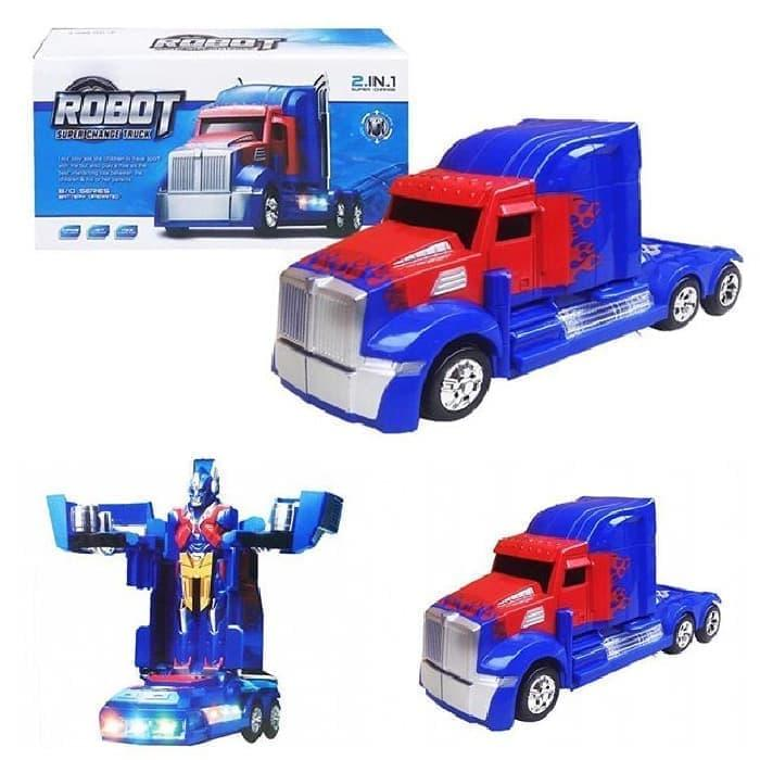 Mainan Anak ROBOT SUPER CHANGE TRUCK 2IN1 - Mobil Truck Transformer Jadi Robot Transformer - 1