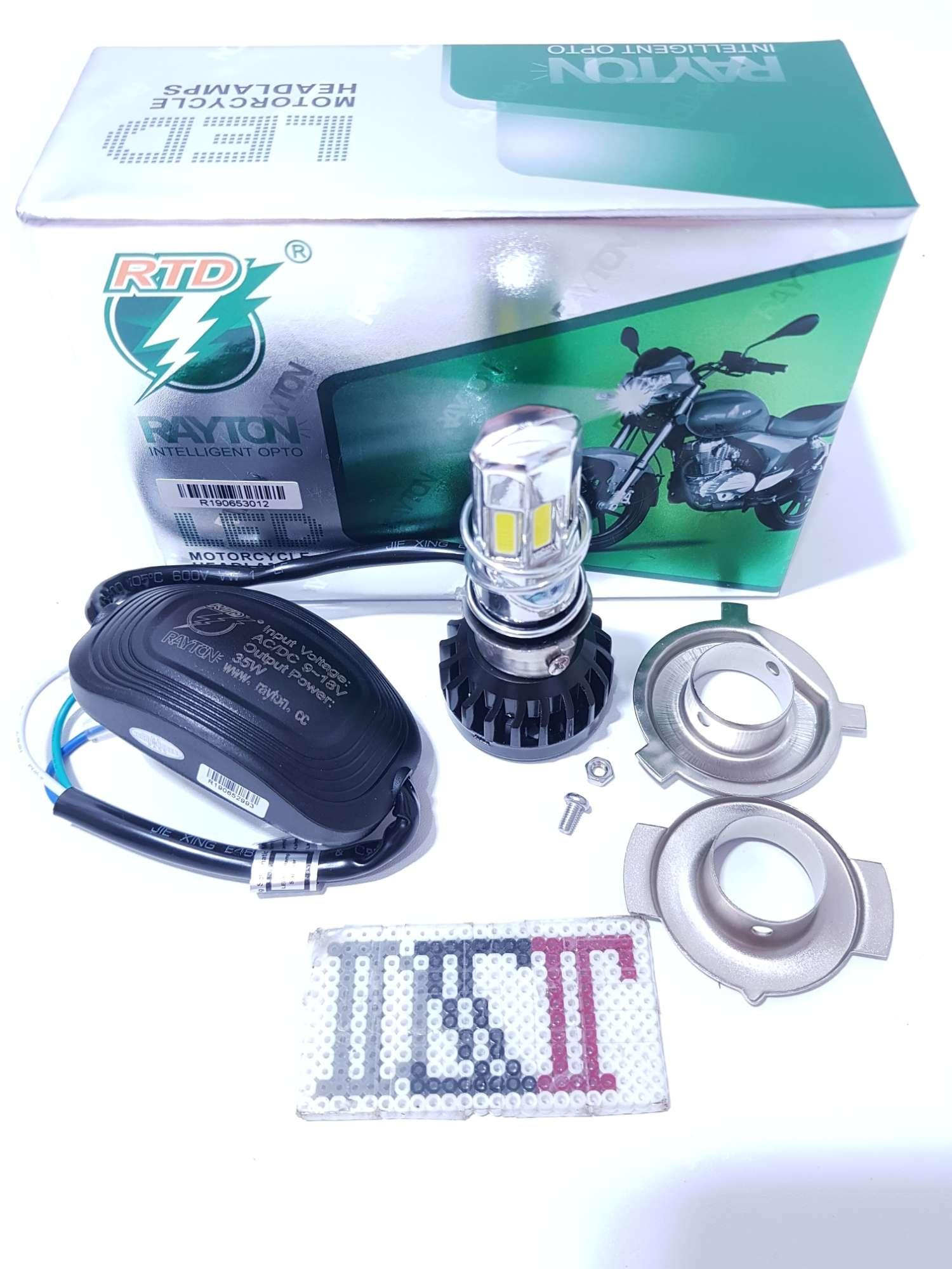 lampu utama led RTD 35 watt M 02E 6 sisi headlamp h6 h4 hs1 3500lm 6500K dzlled