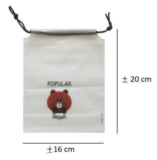 1 Travel Bag Bear Transparan Serut Organizer bag Pouch Serbaguna Kosmetik thumbnail