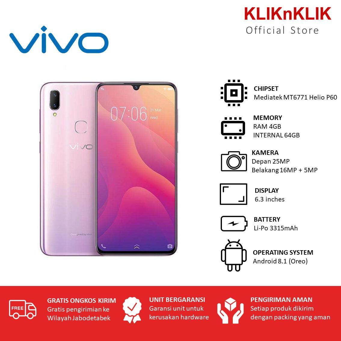 VIVO V11i RAM 4GB/64GB Fairy Pink - Vivo Murah