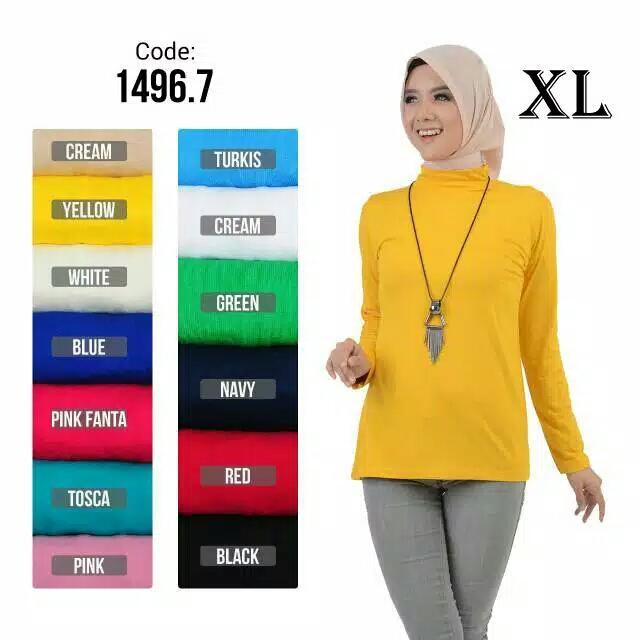 Baju Kaos Murah Wanita Cewek Kekinian Lengan Panjang Mangset Sabyan 51647d1ae9