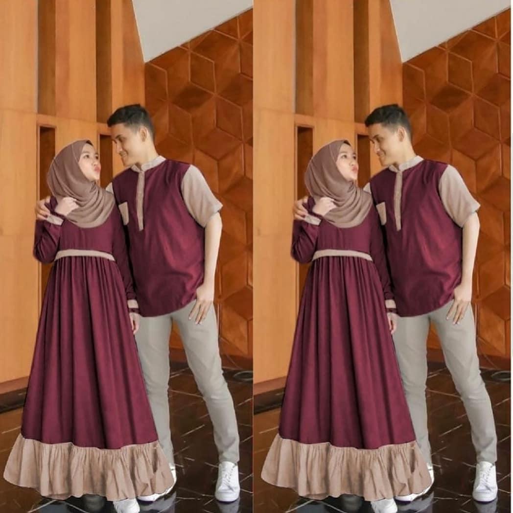 Aron Couple / Gamis Couple Murah / Baju Pesta / Baju Brukat / Baju Wanita / Baju Pria / Muslim Hijab / Fashion Muslim Terbaru / Model Gamis Terbaru / Baju Couple Terbaru / Baju Couple / Baju Gamis Syari Wanita / Busana Pasangan Kompak / Baju Keluarga