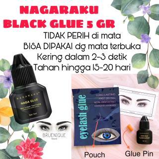 NAGARAKU BLACK GLUE - TIDAK PERIH - LEM SAMBUNG BULUMATA EYELASH EXTENSION - ORIGINAL thumbnail