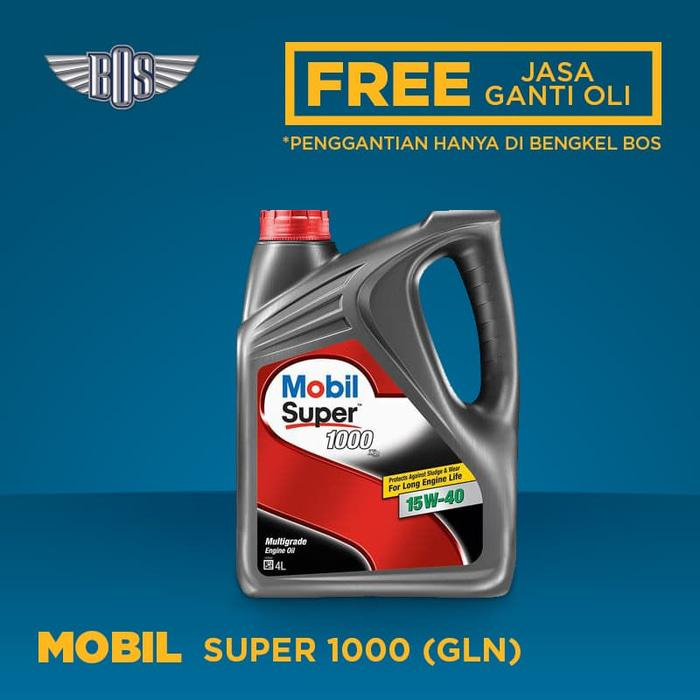MOBIL SUPER 1000 15W-40 @ GALON - GRATIS JASA GANTI OLI
