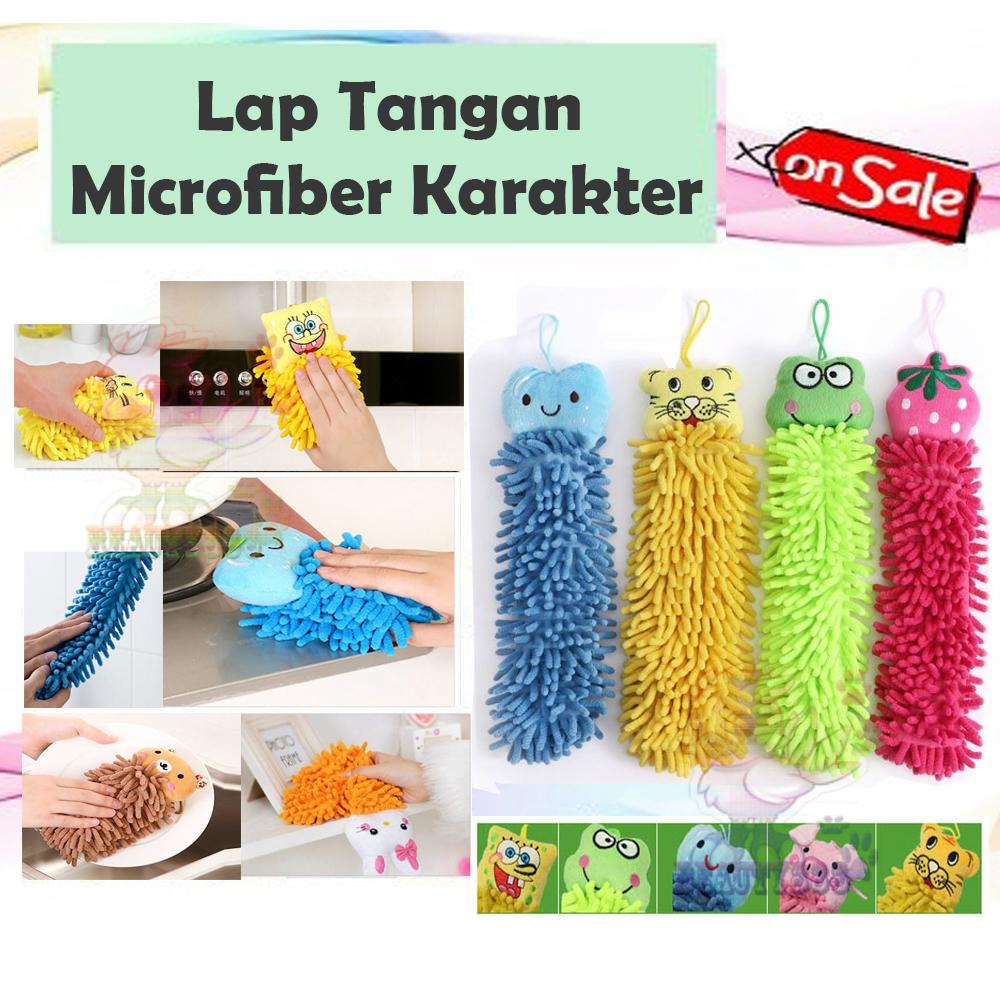 Beauty Towel Mitt Microfiber Hand Washing Home Cleaning Cloth Duster Towel / Lap Tangan Microfiber /