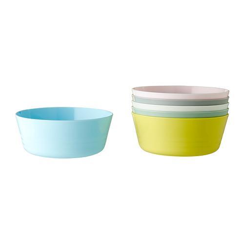 Ikea Kalas Mangkuk Plastik, Mangkuk Anak Aneka Warna Warni Set Isi 6 Pcs By Health And Beauty Solution.