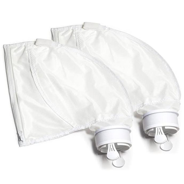 2Pcs Pool Cleaner Filter Bag Swimming Pool Suction Machine Filter Bag Zipper Filter Bag Replacement