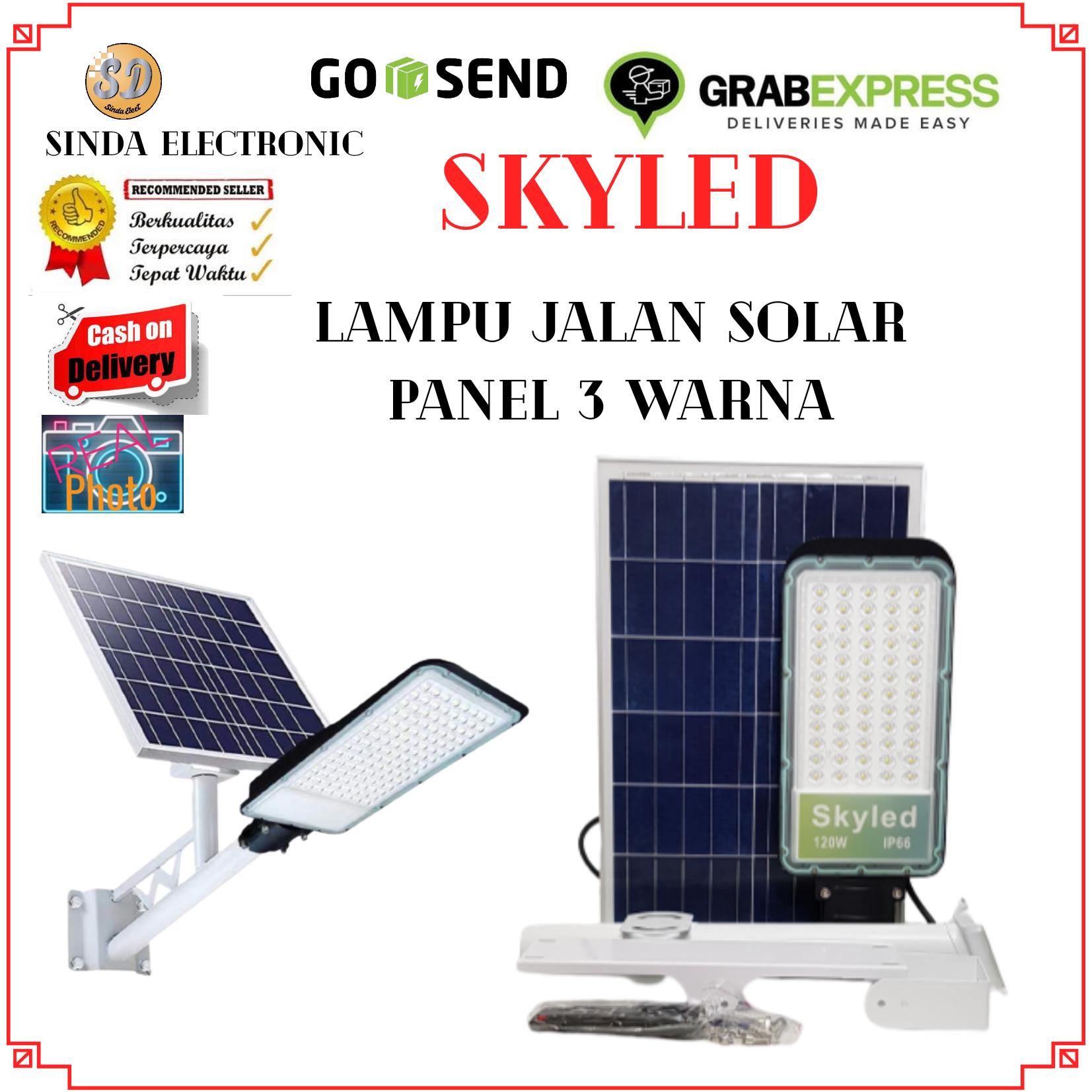 SKYLED Lampu Jalan Solar Panel 120Watt 3 warna Remote