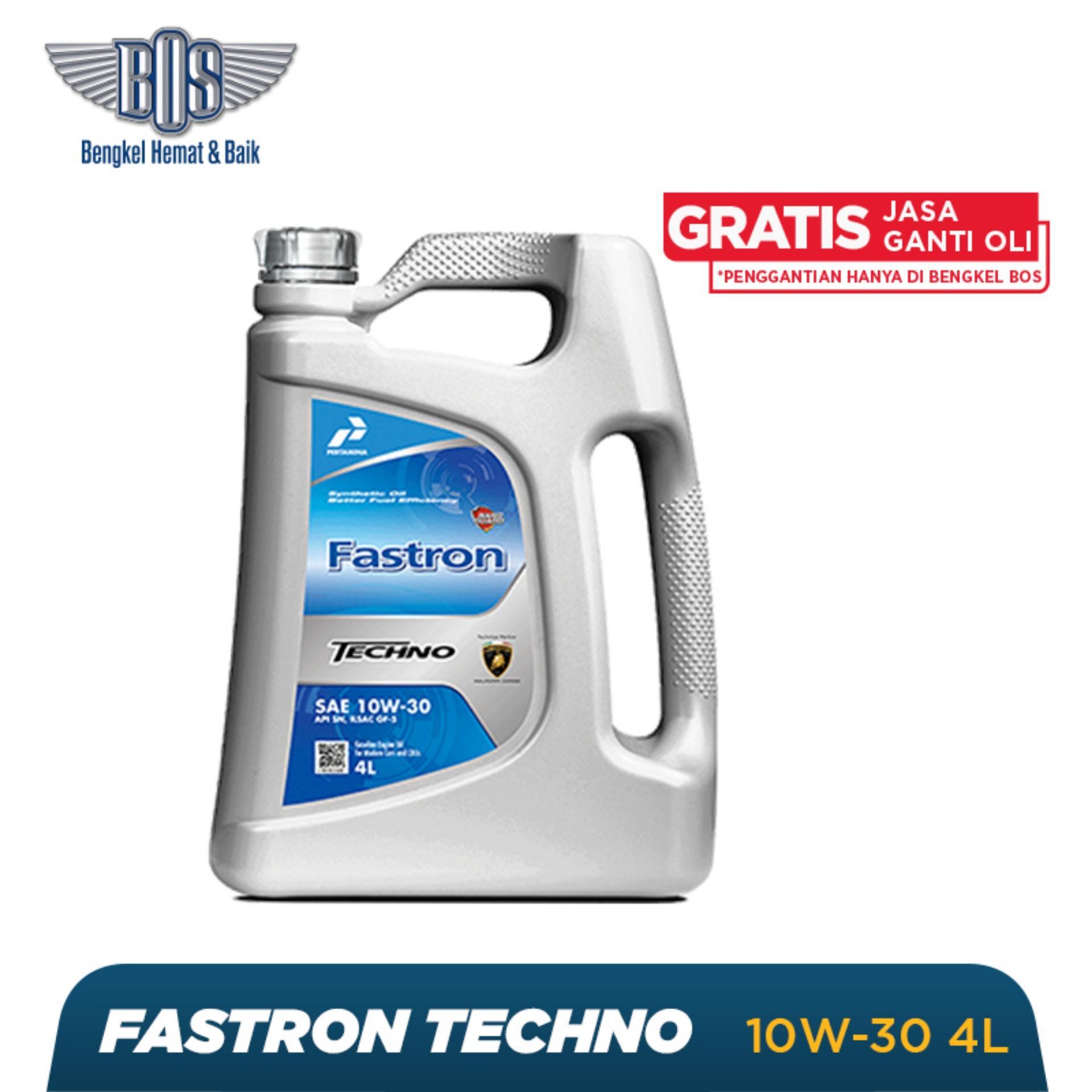 Oli Mobil Fastron Techno - 10W-30 - GALON -  Gratis Jasa Ganti Oli dan Check Up Kendaraan