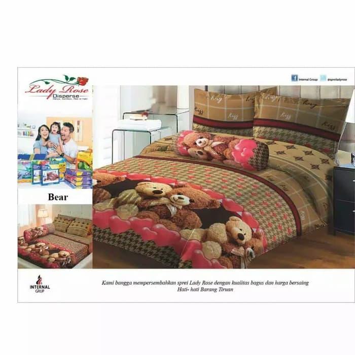 Bedcover Set King Ladyrose Bear 180x200 cm
