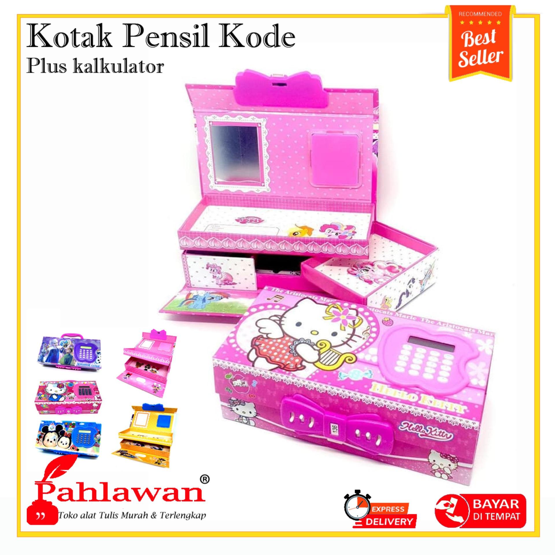 Kotak Pensil Tingkat Karakter 3d Kode Angka Plus Kalkulator Tepak Tempat Wadah Case Pulpen Atk Penghapus Penggaris Anak Cewek Cowok