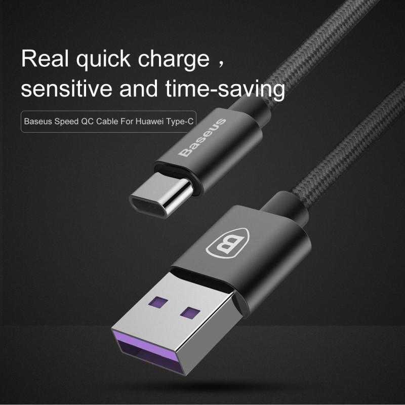 Baseus Speed Series Kabel Charger USB Type C 5A 1 Meter
