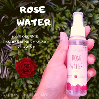 [PROMO] Air mawar untuk wajah ROSE WATER Setting Spray Face Mist 100% ORGANIK- by Luxury 100ml thumbnail