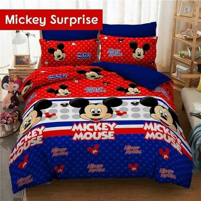 BARU!!! Bedcover Set Motif Mickey Mouse, 180x200, Bed Cover Set Sprei Grow Sedia Juga Bed cover california, Bed cover kintakun, Bed cover single, Bed cover bayi, selimut Bed cover